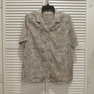 Alfred Dunner animal print blouse